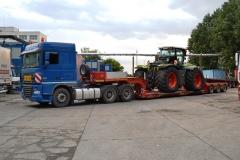 transport utilaj agricol Claas 5000 Xerion trailer gondola