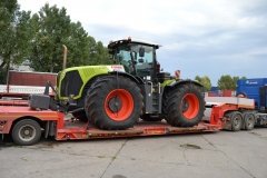 transport utilaj agricol Claas 5000 Xerion trailer lowloader