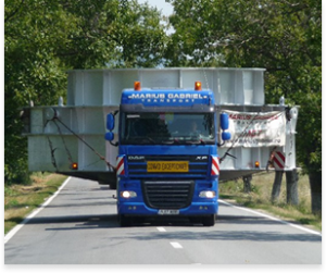 Transport agabaritic carcasa cuptor electric Targoviste Otelu Rosu