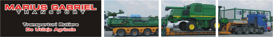 Transport agabaritic combina John Deere